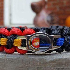 Jewelry - USMC/Thin Blue Line Police Paracord Bracelet